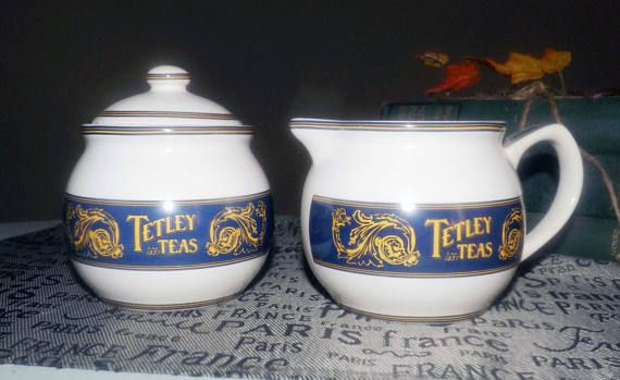 Vintage c.1980s Tetley Teas Collector's Edition cream
