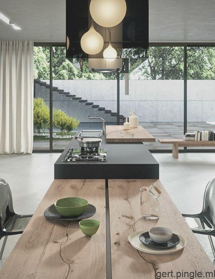 Idees De Cuisine Ouverte Comment Creer Une Cuisine Moderne Boochinsel O Cuisine Moderne Cuisine Design Moderne Cuisines Design