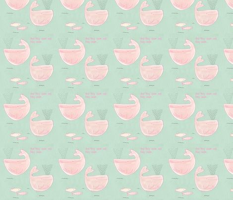 And they swam and they swam... fabric by t-w-i-n-k-l-e on Spoonflower - custom fabric