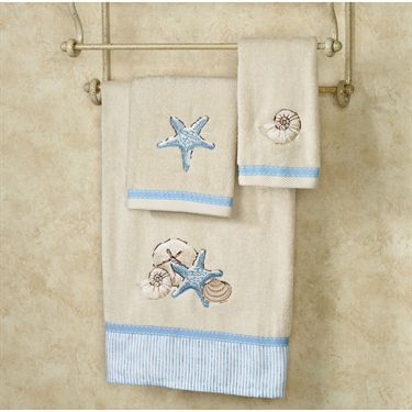 Seaside Serenity Towel Set Light Cream Bath Hand Fingertip