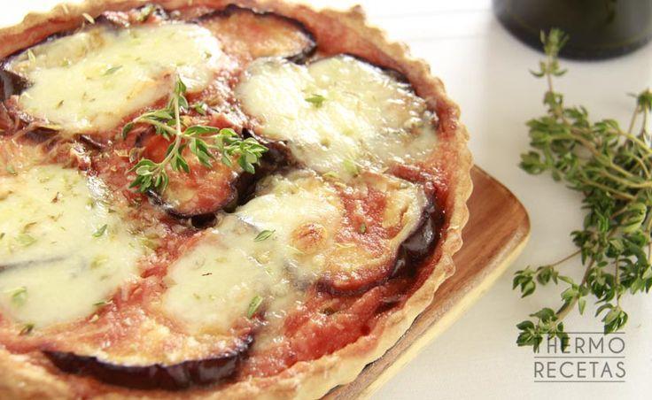 Tarta salada de berenjena a la parmesana - http://www.thermorecetas.com/tarta-salada-berenjena-la-parmesana/