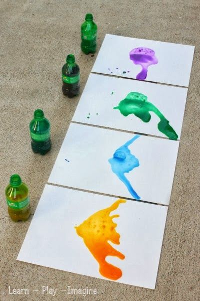 Erupting art for kids - combining art and science in one fun and colorful activity!