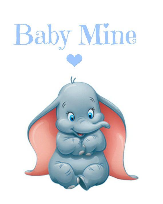 Dumbo Baby Mine Nursery Printable Instant by RachelsMagicalPrints