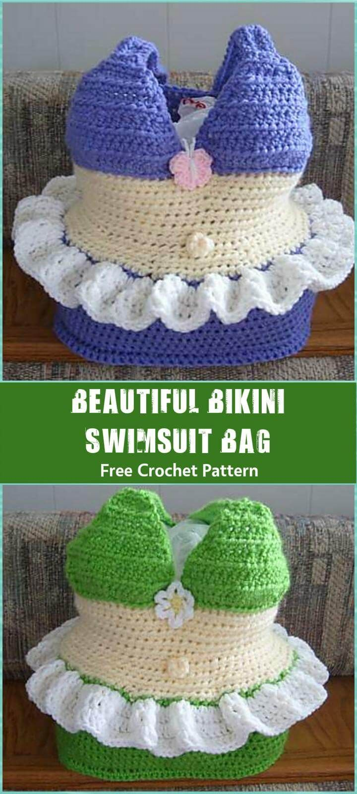 Beautiful Bikini Swimsuit Bag FreeCrochetPattern