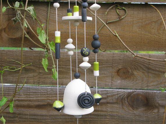 mobile carillon vent en c ramique suspensions. Black Bedroom Furniture Sets. Home Design Ideas