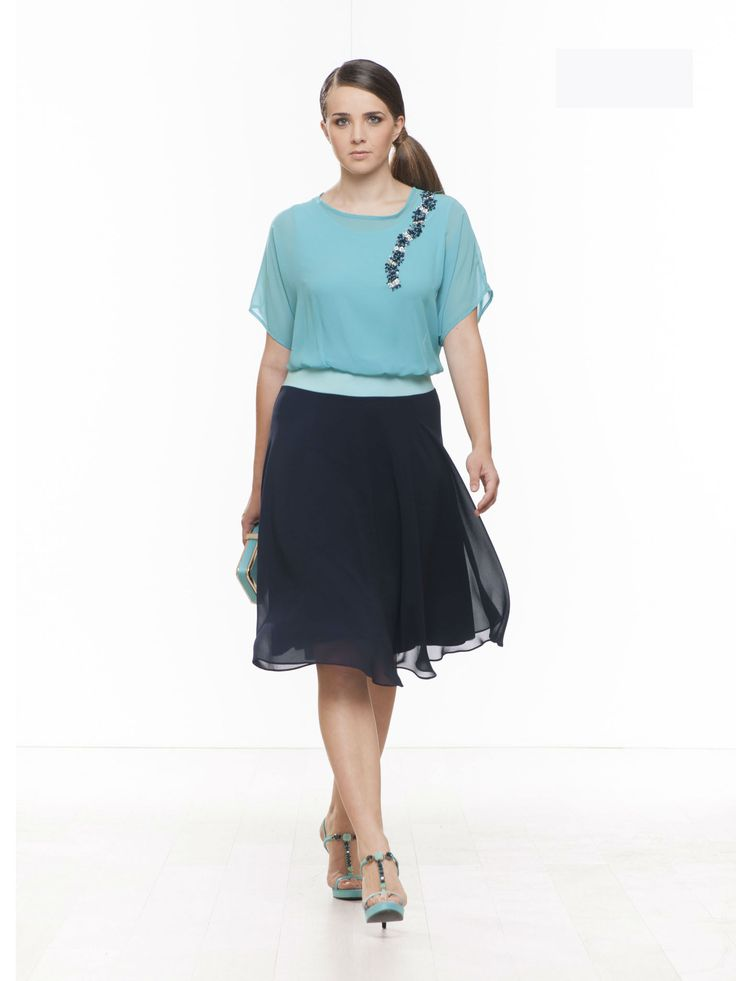complete  #skirt #gonna +blusa #‎fashionista‬ ‪#‎curvy #fashioncurvy #curve #conformate #fashion #woman #plussize ‪#‎spring #blue #fashion #elegance #cocktaildress‬