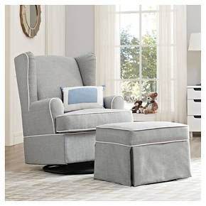 Eddie Bauer® Upholstered Wingback Swivel Glider - Gray : Target
