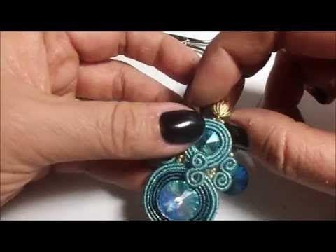 Sutasz krok po kroku - orientalne kolczyki soutache - YouTube