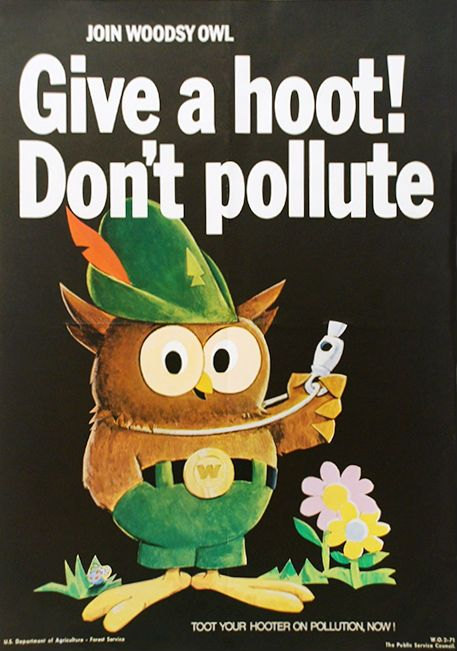 Woodsy the Owl and Give a Hoot Don't Pollute