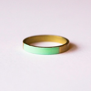 colorful brass ring