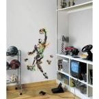 22.5 in. x 52 in. Men's Basketball Champion Peel and Stick Giant Wall Decal, Multi