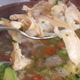 This chicken avocado soup is the perfect spring time soup. A lightly flavored chicken broth with chunks of avocado, tomato and onion. Shredded chicken adds a hearty texture to this chicken soup that is easily made in one pot. Serves 4-6