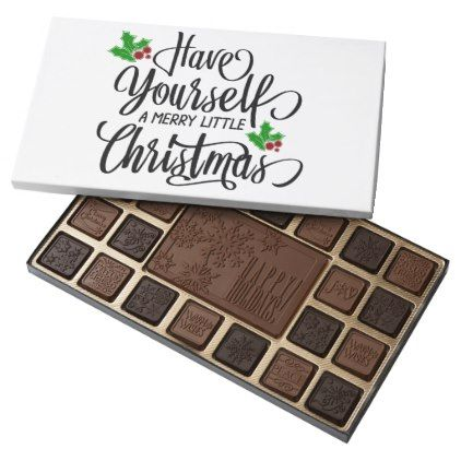 Have Yourself a Merry Little Christmas Chocolates - kitchen gifts diy ideas decor special unique individual customized