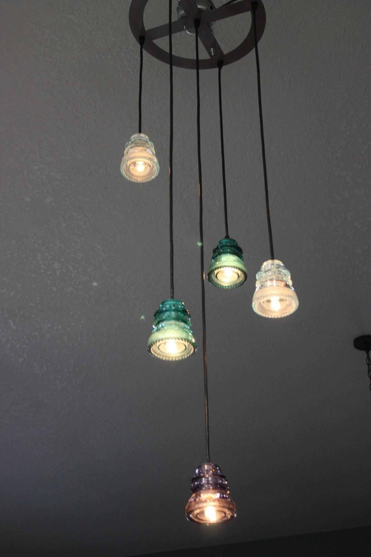 1000 images about craft insulator projects on pinterest for Telephone insulator light fixture