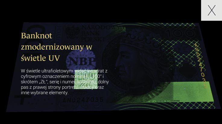 NBP Zabezpieczenia banknotów – zrzut ekranu