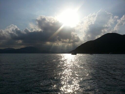 Sunset from Sai Kung Hong Kong