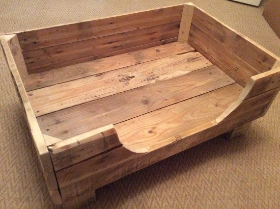 Rustic Dog Bed made from reclaimed pallet wood. by PalletGenesis