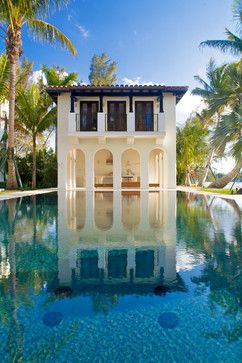 Miami Mediterranean Contemporary mediterranean pool