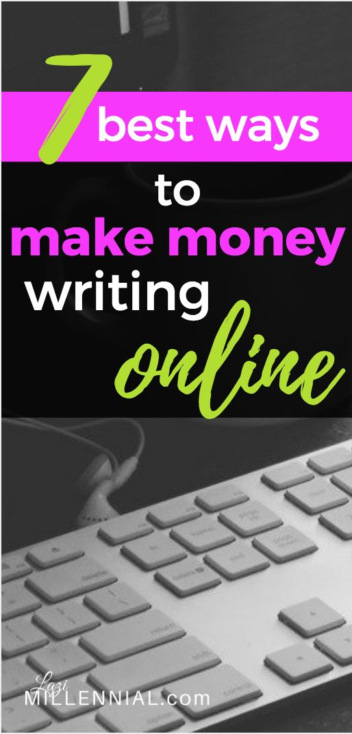 making money online writing The best money making opportunity i've taken advantage of online has been writing articles i love to write, and i can write well, quickly this has translated into a lot of money over the past few years.