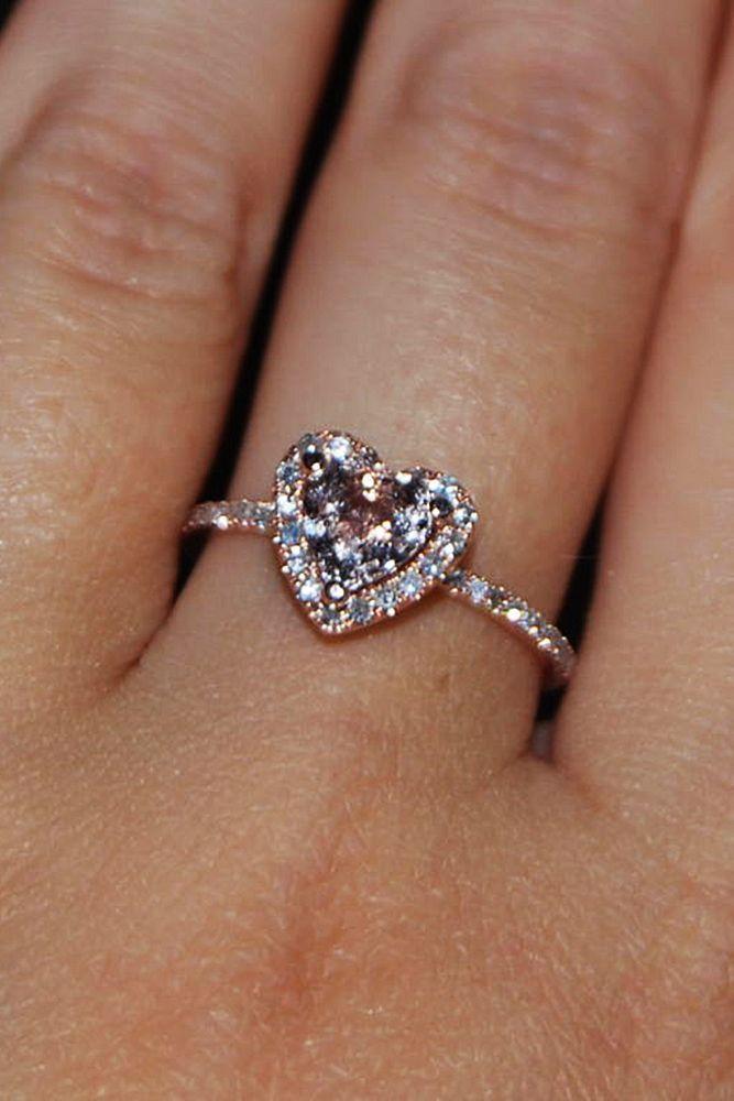 Eidel Precious engagement rings heart round cut halo #engagementrings