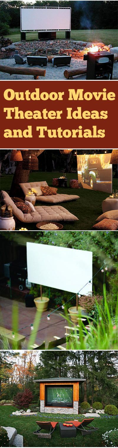 Outdoor Movie Theater Ideas and Tutorials
