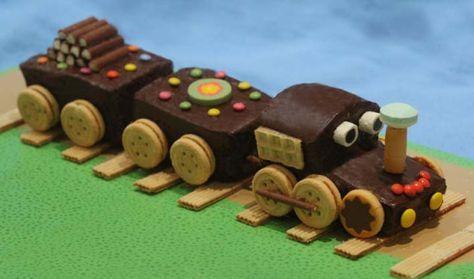 Préparation : 15 mn Cuisson : 45 mn Décoration : 45 mn Temps total : 1h45 Base : 2 gâteaux en forme de cakes. Pour cet exemple : un aux pépites de chocolat et un marbré (recette ICI) Ingrédients pour la décoration : - 200g de chocolat noir - des petits...