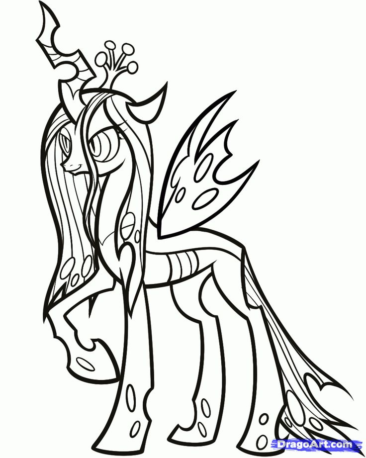 mlp printable coloring pages how to draw queen chrysalis my little pony step