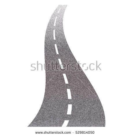 road on white