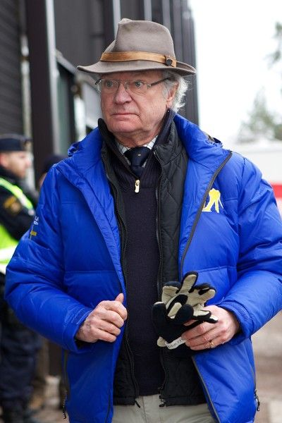 Noblesse et Royautés:  Royals at the Nordic World Ski Championship, Falun, Sweden, February 27, 2015-King Carl Gustaf