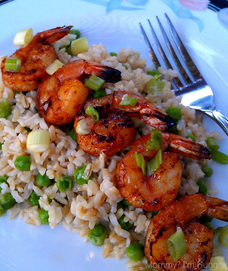 Grilled Shrimp with Brown Butter and Rice Recipe