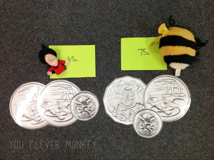 Great ideas for teaching money to Stage 1 - Australian money unit #youclevermonkey