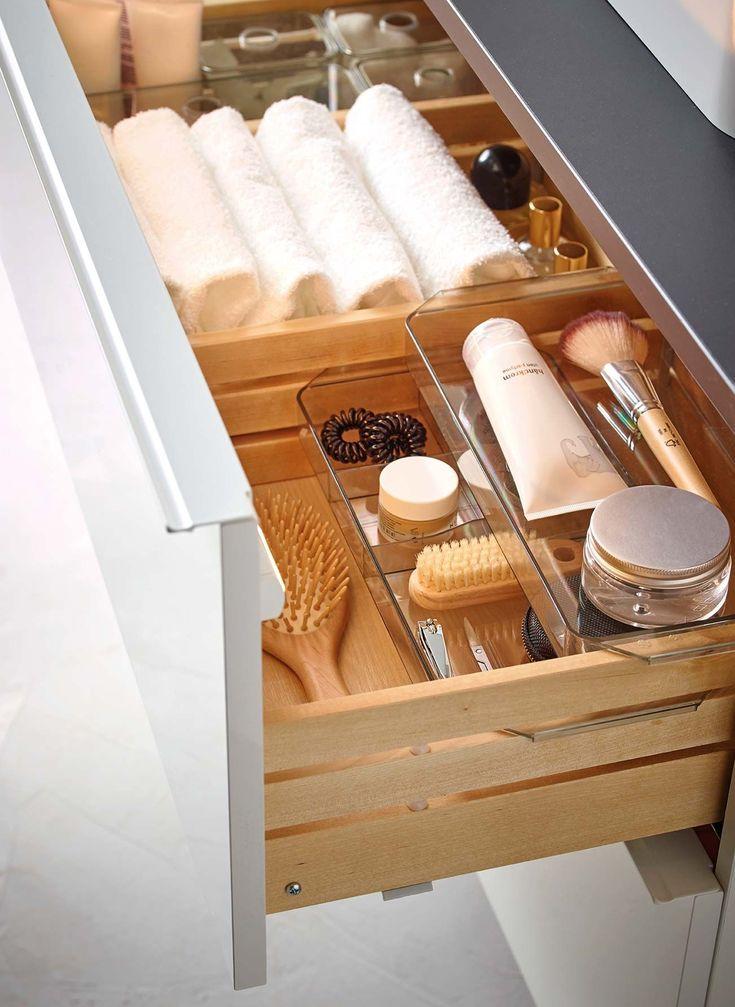 ¡Quiero un baño así! | Cajones de baño, Decoracion de baños sencillos, Organizador de baño