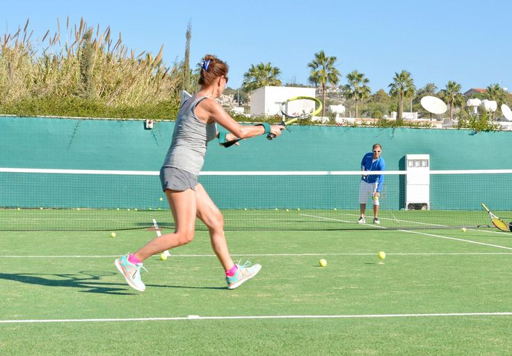 Enjoy a game with your friends or learn from our coaches at our 3 brand new, floodlit tennis courts. #cyprus #ayianapa #sports #fitness #tenniscourt #hotel