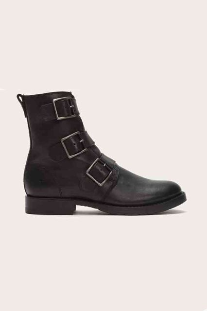 A classic silhouette with a biker twist. Frye Natalie Triple Buckle, $398, available at Frye.  #refinery29 http://www.refinery29.com/best-womens-ankle-boots#slide-16