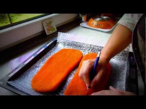Patschen/Hausschuhe/Pantoffel aus Filz machen. Quelle: www.petramaderebner.at