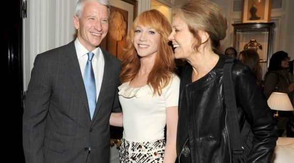Anderson Cooper, Kathy Griffin and Gloria Steinem