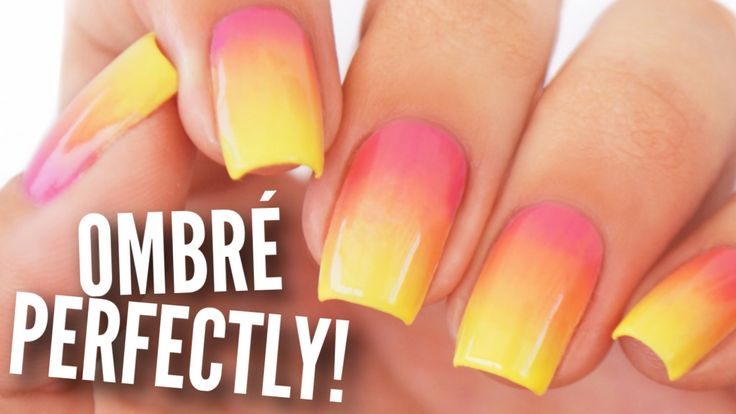Ombre / Gradient Your Nails Perfectly! - YouTube
