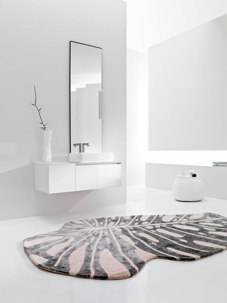 BLOCK 02 - Lacquered 141 Bianco glossy. Lacquered Top 141 Bianco glossy. Washbasin Ring 60. www.milldue.com