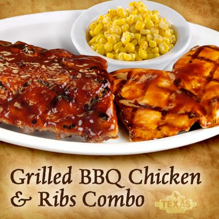 Grilled BBQ Chicken and Ribs Combo.