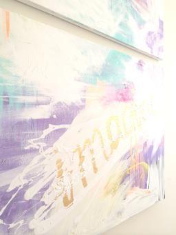IMAGINE. Acrylic on canvas by Emmi Kainulainen.  www.emmikainulainen.com