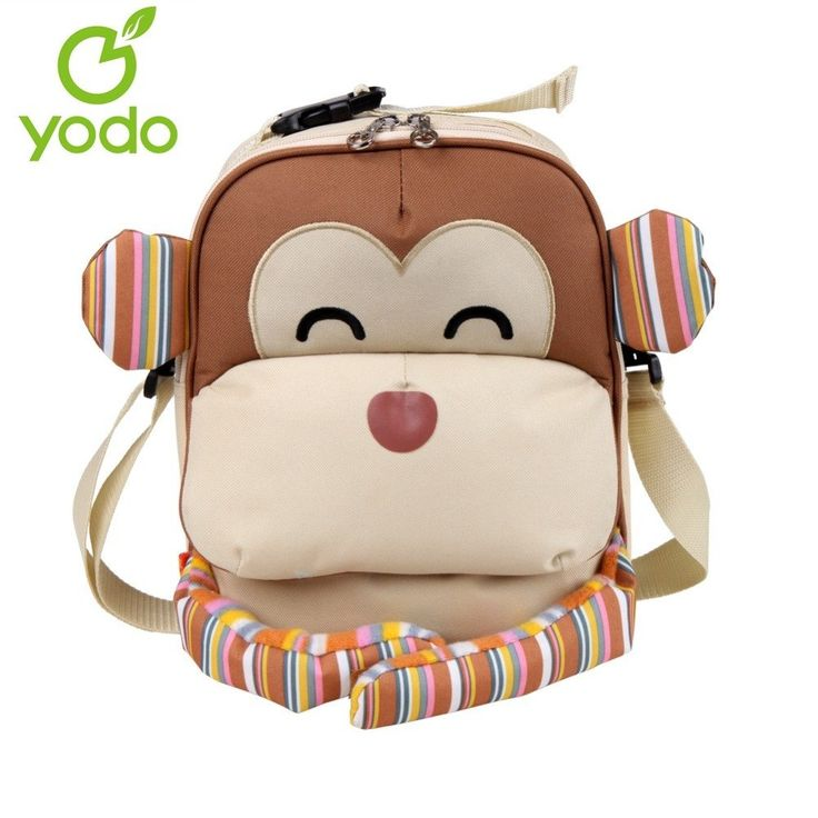 3D Monkey insulated thermal lunch bag