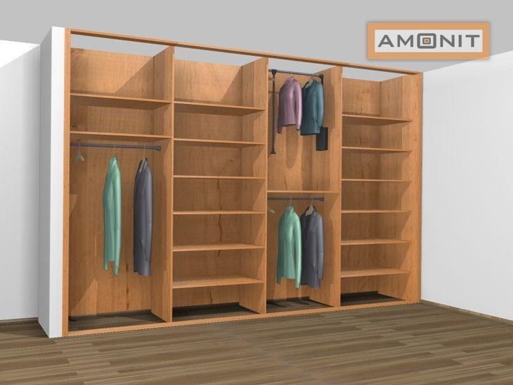 Ukázka vnitřního uspořádání vestavěné skříně - 21. varianta