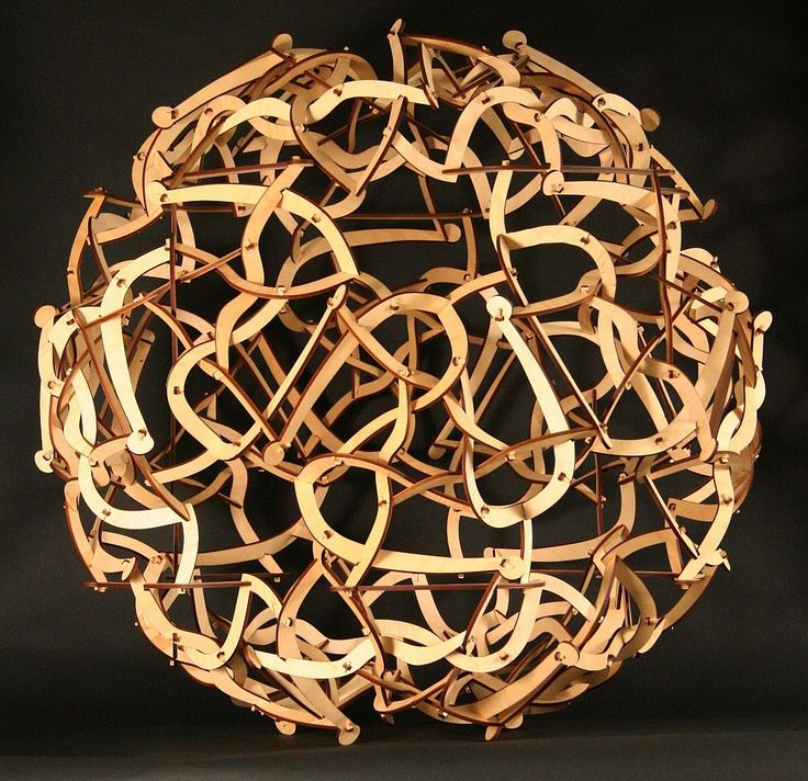Spaghetti Code -- sculpture by George W. Hart