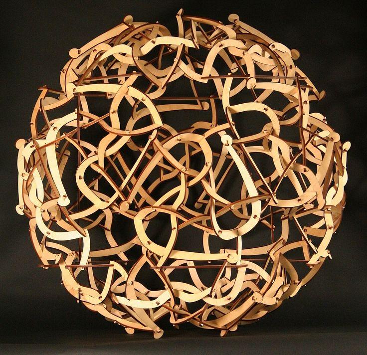 George W Hart - Designer and Creator      'Spaghetti Code' Laser-cut Wood