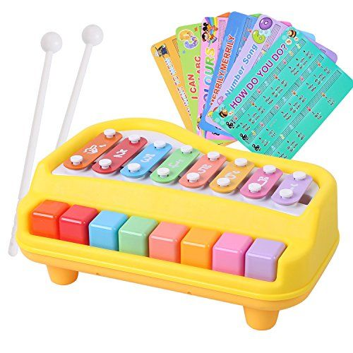 baoli 2 in 1 Piano and Xylophone toy with 8 Key Baby Kid Child Musical Toys -- More info could be found at the image url.