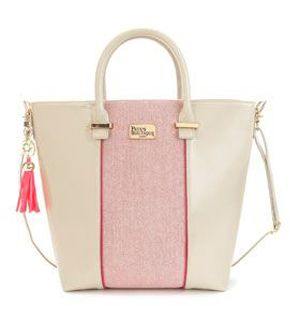Topshop tote {love the pretty pink tassel}
