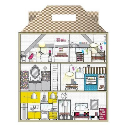 191 best dollhouse illustrations images on pinterest for Jolie maison decoration
