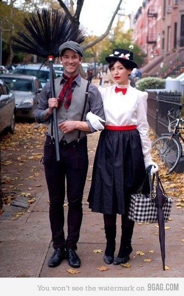 Adorable couple costume for Halloween. #marypoppins