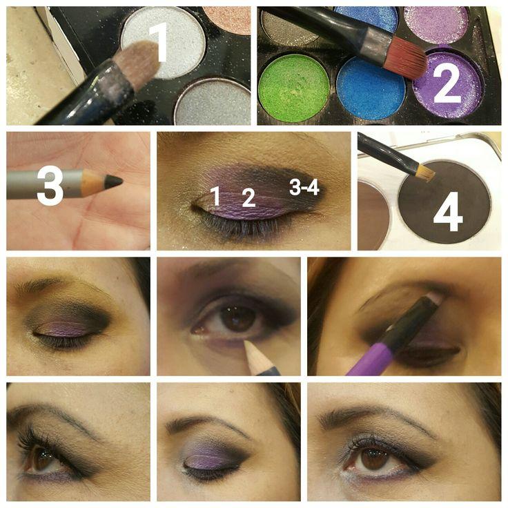 #makeup #beauty #silver #violet #black #night #eyeshadow