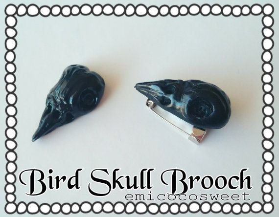Check out this item in my Etsy shop https://www.etsy.com/au/listing/465031089/raven-skullbird-skull-dead-crow-brooch